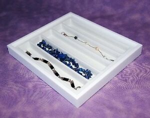 Necklace bracelet White Jewelry Display Case Wht