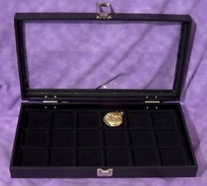 Pocket Watch Jewelry 18 Slot Glass Top Jewelry Display