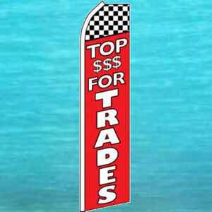 Top For Trade Flutter Flag Used Cars Advertising Sign Feather Swooper Banner