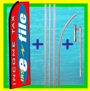 Income Tax Irs E File Feather Swooper Banner 1 Flag Kit
