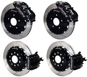Wilwood Disc Brake Kit 94 04 Ford Mustang 14 13 Rotors Black Calipers