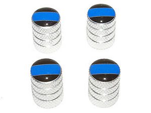 Thin Blue Line Police Tire Valve Stem Caps Aluminum