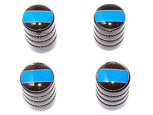 Thin Blue Line Police Tire Valve Stem Caps Black