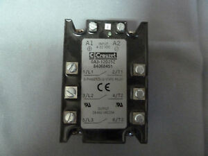 Crouzet Ga3 12d25z Solid State Relay 3 Phase 660v 25a