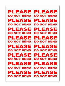 160 Please Do Not Bend Large Labels Stickers