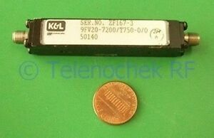 Rf If Microwave Bandpass Filter 7 2 Ghz 750 Mhz Bw Data