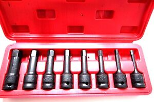8pc 1 2 Dr Allen Hex Driver Impact Socket Set Mm