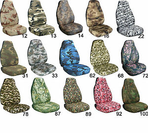 Cool Set Front Camo Car Seat Covers Choose Colors