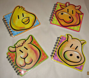 Huge Lot Of 60 Fun Animal Shaped Notebooks Kids Party Favors School Teachers