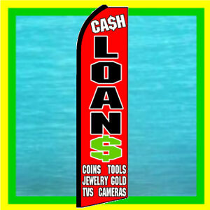 Cash Loans Pawn Shop Feather Swooper Bow Banner Ad Flag