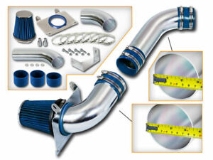 3 5 Blue Cold Air Intake Induction Kit Filter For 87 88 Mustang 5 0l V8