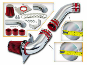 3 5 Red Cold Air Intake Induction Kit Filter For 87 88 Mustang 5 0l V8