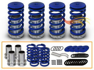 Jdm Blue Lowering Adjustable Coilover Springs For 90 07 Accord 92 96 Prelude