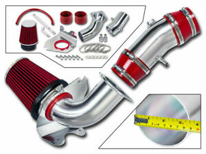 3 5 Red Cold Air Intake Induction Kit Filter For 94 95 Mustang Gt 5 0l V8