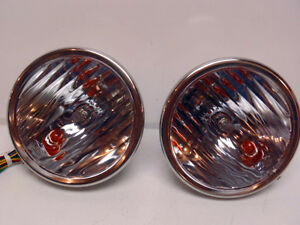 Ford Model A Headlamps W Fluted Lens Signal Set 1928 1929