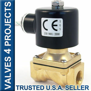 3 8 Electric Solenoid Valve 110 120v Ac Fkm viton Air Water Fuel B21v