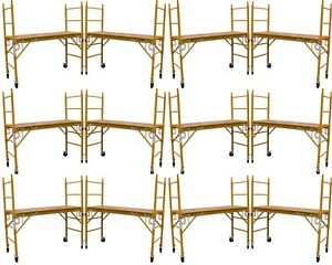 Set Of 10 New Scaffold Rolling Tower 6 H 29 X 6 Aka Perry Or Baker Scaffoding