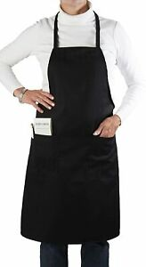 60pc Black Bib Aprons Full Lenght 33 l X 28 5 w 2 Pouch 1 Pen Pocket Bapbkx60