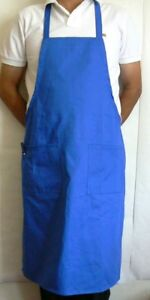 60pcs Blue Bib Aprons 2 Pouch 1 Pen Pocket Restaurant Waiter Server Bapblx60