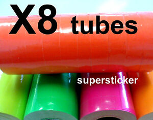 Red Price Tags For Mx 6600 2 Lines Gun 8 Tubes X 11 Rolls X 500