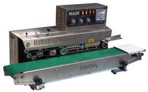 Entrepack Stainless Steel 2200h Horizontal Continuous Band Sealer Ink Printer