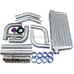 Cxracing Universal Front Mount Turbo Intercooler 3 Piping Bov Kit