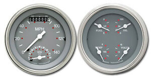 Classic Instruments Sg Series 3 3 8 Speedo Tach Sg32slf 2 Gauge Set Flat Glass