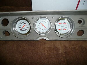 Chevelle Adapter Panel With Velocity Series Classic Instruments Gauges Dash Whit