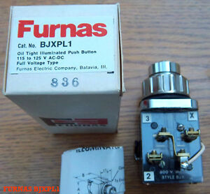 Furnas Bjxpl1 Pilot Light Illuminated Push Button Oil Tight Full Voltage Bjx