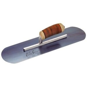 Kraft Tool Concrete Finishing Trowel Elite Series Leather Handle 18 X 5