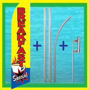 Breakfast Special 15 Restaurant Advertising Flag Kit Feather Swooper Bow Banner