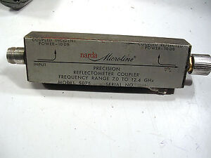 Narda 5075 Coaxial Dual Directionalcoupler Reflectometer 7 12 4 Ghz Tested