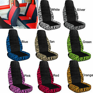 Vw Beetle Car Seat Covers Zebra White blk Center Choice From 6 Colors