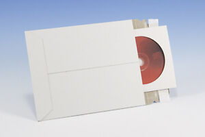 500 Cd Dvd C Media Pacakaging White Cardboard Envelope Self Adhesive Mailers 6x6