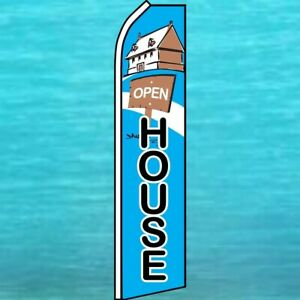 Open House Flutter Flag Tall Real Estate Advertising Sign Feather Swooper Banner