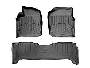 Weathertech Floor Mats Floorliner For Land Cruiser Lx 1st 2nd Row Black