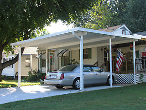 20 X 20 Wall Attached Aluminum Carport Kit 032 Patio Cover Kit