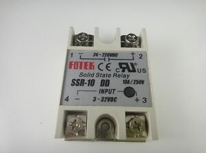 Solid State Relay Ssr 10dd Dc dc 10a 3 32vdc 24 220vdc