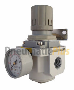 1 Npt Air Compressor Pressure Relief Regulating Regulator W Gauge