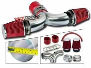 Red 04 07 Durango 5 7l Hemi V8 Dual Twin Air Intake Induction Kit Filter 3 5
