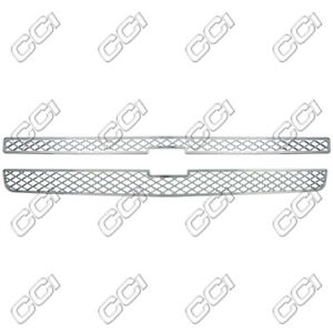 07 13 Chevy Silverado Triple Chrome Snap On Grille Overlay Grill Trim Insert