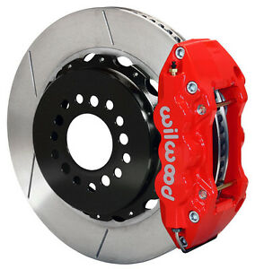Wilwood Disc Brake Kit Rear 05 10 Charger Chrysler 300 14 Rotors Red Calipers