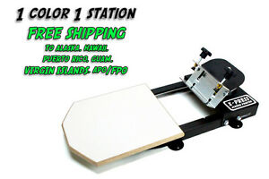 Silk Screen Printing Press 1 Color 1station Free S h To Ak Hi Pr Gu Vi Ap