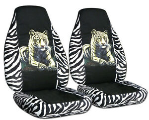 94 04 Ford Mustang Front Car Seat Covers Bengal Tiger Zebra White more Avbl