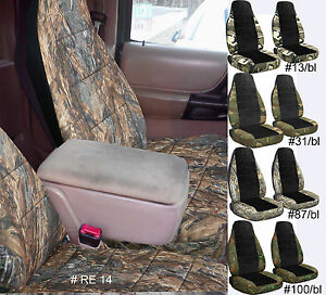 Designcovers Fits 98 03 Ford Ranger 60 40 Highback Car Seat Covers Camo Black