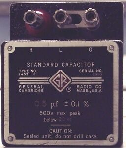 General Radio Gr 1409x 1409 x 0 5 Ufd Standard Capacitor