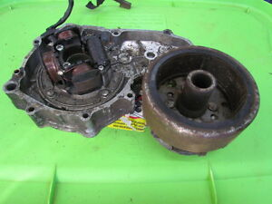 Honda ATC200E ATC 200 E ATV 200 E Engine case w/ Charging Unit Rotor/ Magneto