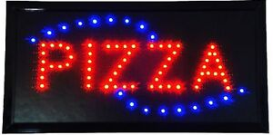 Animated Motion Led Restaurant Bbq Club Pizza Sign On off Switch Open Light Neon
