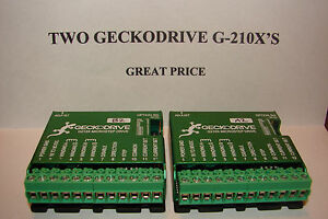 Two Cnc Geckodrive G 210x s extras Stepper Motor Driver Gecko Router Mill Plasma