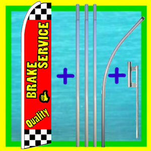 Brake Service 15 Flag Kit Mount Advertising Sign Feather Swooper Bow Banner